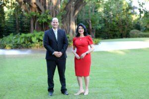 Dr. Alejandro Cambiaso y Lic. Amelia Reyes Mora