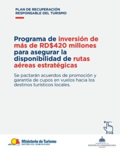Programa de inversión para el sector turístico