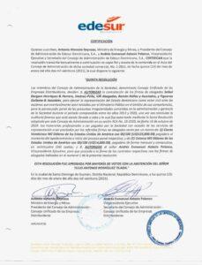Certificado Edesur